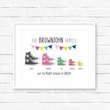 Personalised Family Converse Print! Personalised Family Print! UK Seller!