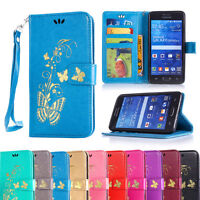 Flip Wallet PU Leather Case Card Pouch Cover For Samsung Galaxy Grand Prime G530