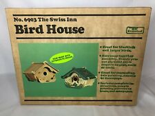 Vintage Greenleaf 6903 Swiss Inn Bird House Build Your Own Craft Painting 1980