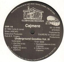 CAJMERE  - Underground Goodies Vol. III - Clubhouse- CHR 119 - Usa