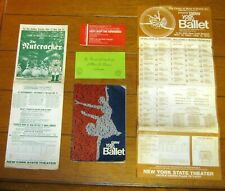 The New York City Ballet Program 1969 and Misc. Advertisements