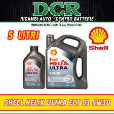 OLIO MOTORE SHELL HELIX ULTRA ECT C3 5W30 ACEA C3 SINTETICO - 5 LITRI
