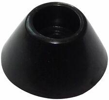 4x pieds patins ronds en PVC H: 7mm Ø14.8mm pour meubles. A visser. Noir