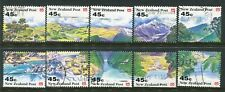 NEW ZEALAND....    1992  scenery booklet stamps  set  used