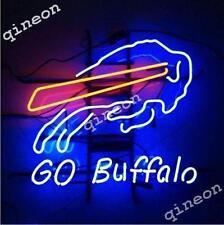 GO Buffalo Bills NFL FootBall REAL NEON SIGN BEER BAR PUB LIGHT Fast Shipping