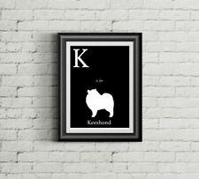 K is for Keeshond Alphabet Art Print