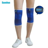 Sumifun 1pair Elastic Bandage Blue Knee Braces Knee Support Brace Foot Z740