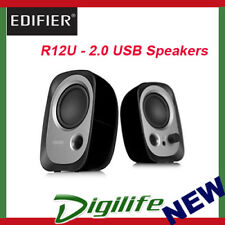 Edifier R12U USB Powered 3.5mm AUX Multimedia Speakers - Black