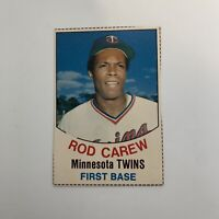 1977 Hostess Rod Carew # 9 Minnesota Twins MLB Baseball Card Hand Cut HOF
