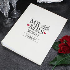 Personalised Mr and & Mrs With Sleeves Photo Album Wedding Day Gift