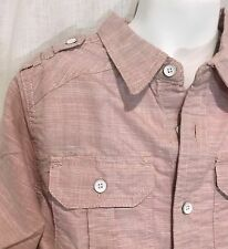 PaperDenim Cloth 6 Red Dress Shirt Pink Button Down Oxford Striped Top Boy's New