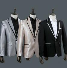 2pcs Mens Blazer One Button Slim Suits Lapel Collar Coat Pants Dress 2019 New