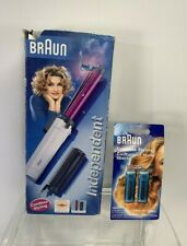 Braun Independent 2000 Cordless Curling Iron Brush Portable GCC50 Butane