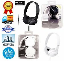 Genuine Sony MDR-ZX110-AP ZX Series Extra Bass Headset Headphone with Microphone