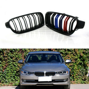 Gloss Black Double Line Mix-Color Racing Grille for BMW F30 F35 2012-2015