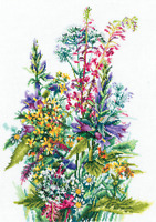 Counted Cross Stitch Kit MAKE YOUR OWN HANDS - Wildflowers
