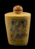 Bottiglia Bottiglietta Boccetta Arte Shunga Erotico Raro 25377 E7