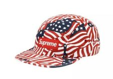 Supreme Chino Twill Camp Cap American Flags *CONFIRMED ORDERS*