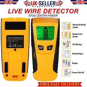Metal Wood Studs Electric Detector AC Voltage Live Wire Detect Wall Pipe Scanner