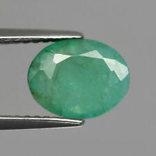 2.25ct 9x7mm Oval Natural Medium Green Emerald, Zambia