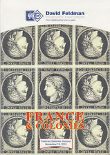 France & Colonies, high end stamps, covers, blocks, 2010 Feldman Auction Catalog