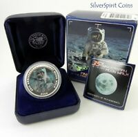 2004 MOON WALK 35th ANNIVERSARY Silver Proof Coin