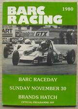 BRANDS HATCH 30 Nov 1980 BARC RACEDAY A4 Official Programme