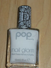 NEW POP BEAUTY NAIL POLISH GLAM CRACKLE SHATTER FIFTY NINE WRECKED WHITE