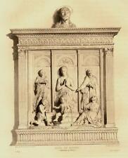 1875 - Eau Forte : AUTEL EN MARBRE, CATHEDRALE DE FIESOLE, Toscane