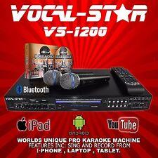 VOCAL-STAR VS-1200 CDG DVD BLUETOOTH KARAOKE MACHINE PLAYER 2 MICS & 150 SONGS