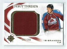 10-11 UD Ultimate Debut Threads  Brandon Yip  /200  Jersey  Rookie