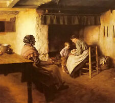 Dream-art Oil painting walter langley - the new arrival mother with baby canvas