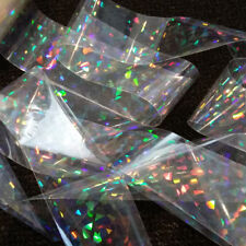 13 X Broken Glass Holographic Nail Art Foil Decoration Wrap Transfer Sticker Clear