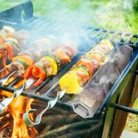 Outdoor BBQ Grill Smoker Tubes Barbecue Wood Pellet Box Y3L2 Meat Grill G9O5