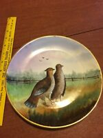 ANTIQUE/ VINTAGE HAND-PAINTED BAVARIAN PORCELAIN BIRD PLATE SIGNED BY THE ARTIST