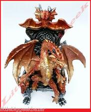 DRAGONS : Statue Dragon sur son Trone résine couleur 15Cm 67027 # NEUF #