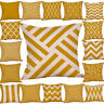 Mustard Pillow Case Yellow Geometric Fall Autumn Cushion Cover PYLE Decorative