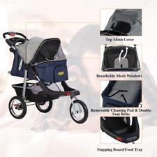 Used 3-Wheel Foldable Dog Stroller Heavy Duty Pet Stroller Suspension System