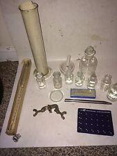Vintage 60s/70s Chemistry Pharmaceutical Bottles,Ground Glass Stoppers,Buret Tip