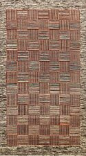 New 6x10 Checkered Gabbeh Oriental Area Rug Living Room Hand-Knotted Wool Carpet