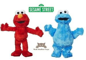 "Official Hasbro Elmo and Cookie Monster 8"" Plush Toy Set"