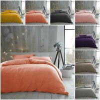New Heather Pom Pom Thermal Warm Fleece Polyester Duvet Quilt Cover Bedding Set