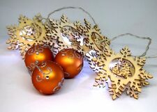 LED Lichterkette 5er Sterne Weihnachtsdeko Fensterdeko Holzsterne Batterie
