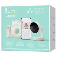 Lumi by Pampers Smart Baby Monitor and Sleep System Registry Bundle & Diapers