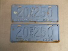 1934 TEXAS COMMERCIAL LICENSE PLATES ORIGINAL FORD CHEVY GMC 34 HOT STREET ROD
