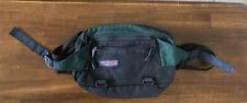 Vintage Jansport Forest Green Fanny Pack Made in USA Waist Hiking Camp Bag