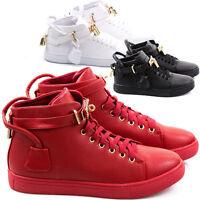 Scarpe Uomo Sneakers Pelle PU Casual Francesine Mocassini Ginnastica Comode S10