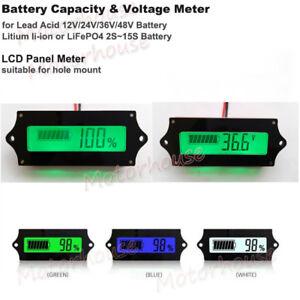 Lead Acid Lithium Li-ion Battery BMS Capacity Level Indicator LCD Voltage Meter