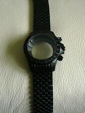 case and bracelet 7750 Valjoux stainless steel 316L PVD black