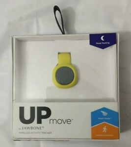 UP MOVE by Jawbone Wireless Activity Tracker  Slate With Yellow Clip  Brand New